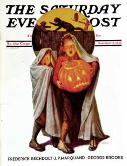 Vintage Halloween Magazine ~ The Saturday Evening Post © November 2, 1935