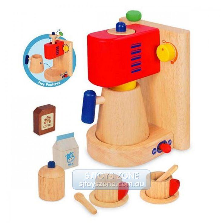 wooden pretend play coffee machine