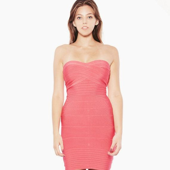Strapless Hot Pink Dresses for Women Cocktail