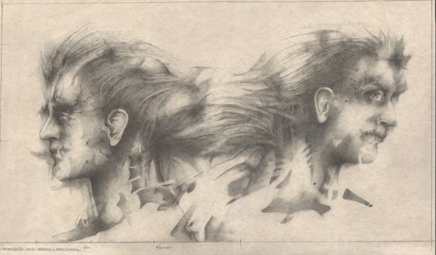 Alessandro De Michele, Teste, matita su carta