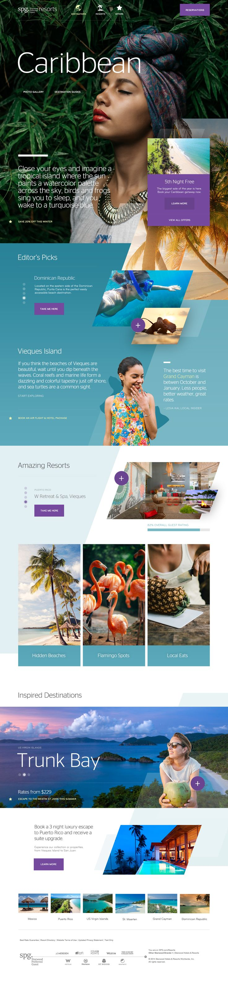 Starwood Hotels & Resorts Caribbean Destination Website Design by Agency Dominion