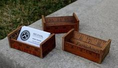 Yardstick Business Card Holder