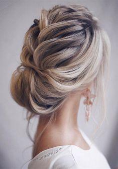 updo elegant wedding hairstyles for long hair #weddinghairstyles