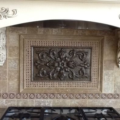 Portico Tile & Fixture  Sonoma Tile, Montrachet Moet Medallion Kismet,Exeter,Coventry decoratives in Burlap Tantrum Crushed Glass Divine Listel