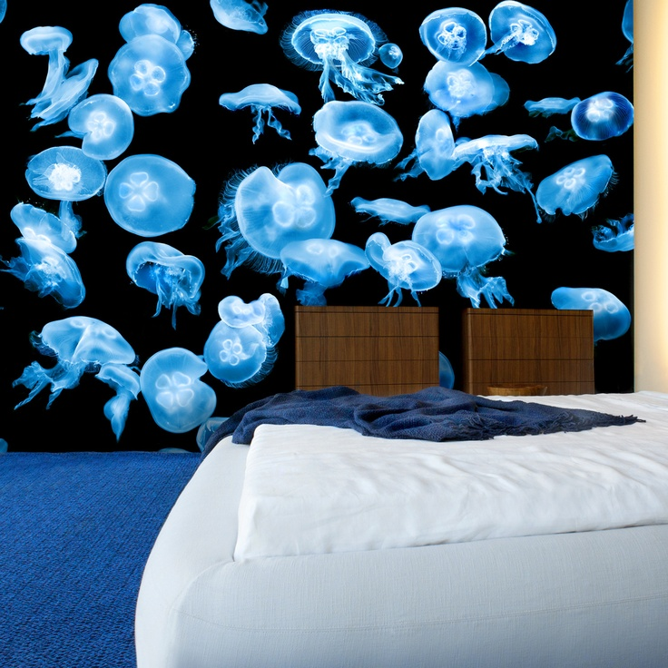 168 best images about cover it wallpaper coverings on for Jellyfish wallpaper home