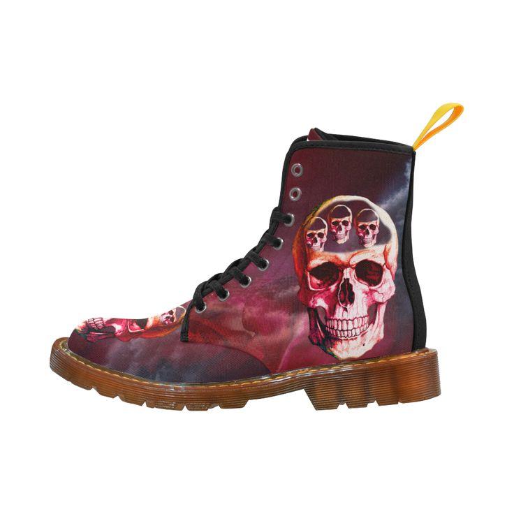 Funny Skull Martin Boots For Women Model 1203H