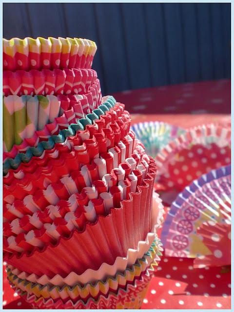 slingers van cupcakepapiertjes