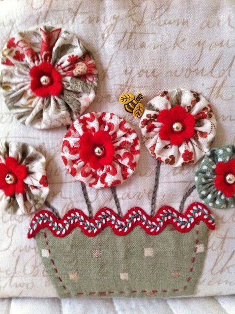 Moments of Sewing- would be cute on a bag or a skirt.