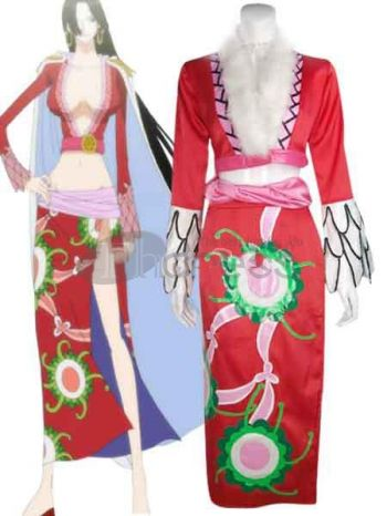 one piece pirate empress boa hancock satin cosplay costumes