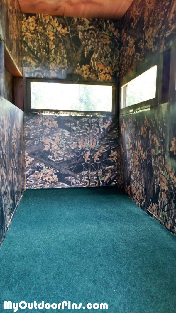 47 best tree stands images on pinterest deer blinds for Building deer blind windows