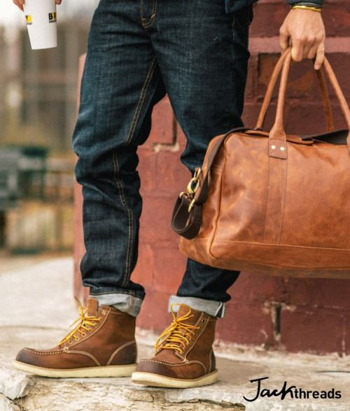 http://chicerman.com  men-and-bags:  Nice ways to match shoes and bag !  Website available soon http://ift.tt/1VybsO9  #accessories
