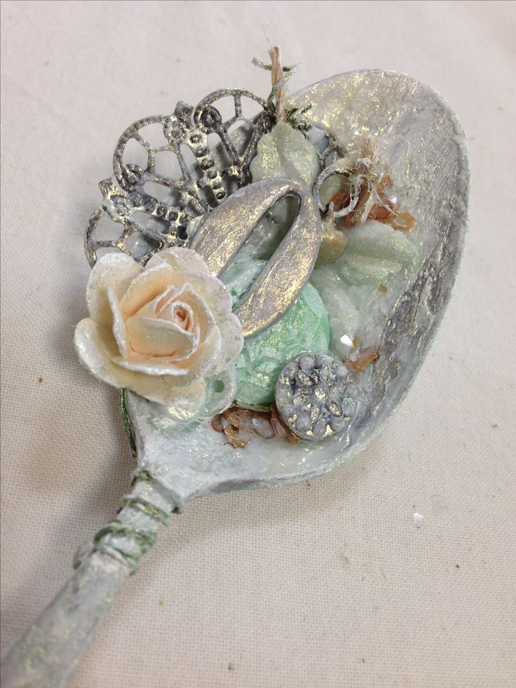 Mixed media spoon @isblu @createcraftau