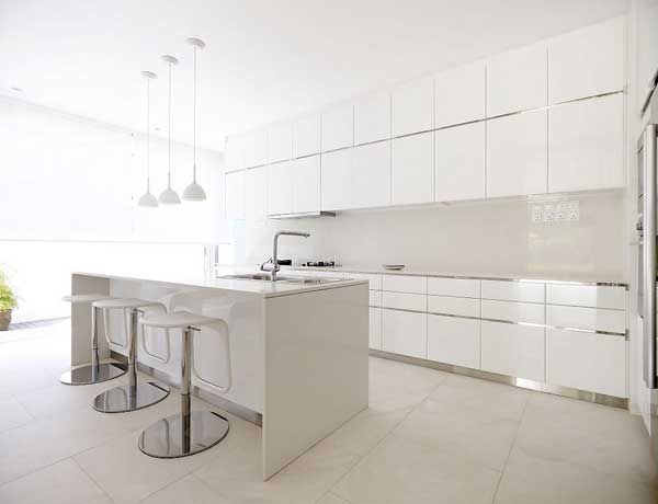 #minimalistic white kitchen - Singaporean architectural studio ONG have re-designed a modern home on the west coast of Singapore