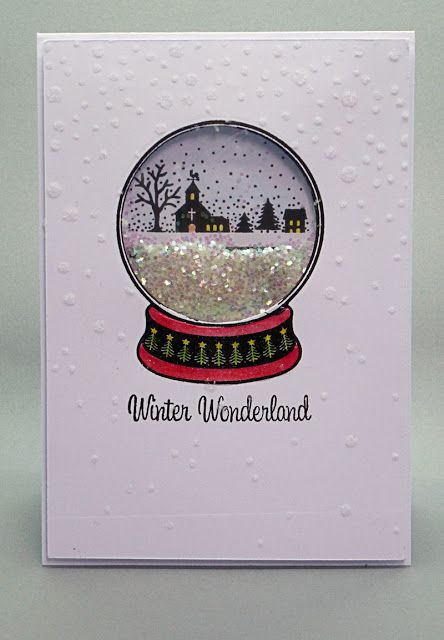 3D Snowglobe shaker interactive Christmas Card, fun for kids at Christmas.