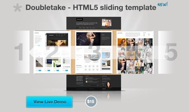 Doubletake - HTML5 Sliding Website Template