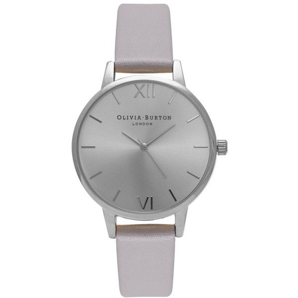 Olivia Burton Midi Dial Watch - Grey, Lilac & Silver (1.553.615 IDR) ❤ liked on Polyvore featuring jewelry, watches, accessories, silver jewelry, holiday watches, gray jewelry, grey watches and gray watches