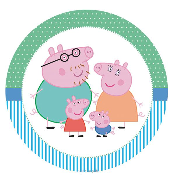 George Pig Personalised Cake Box Stickers