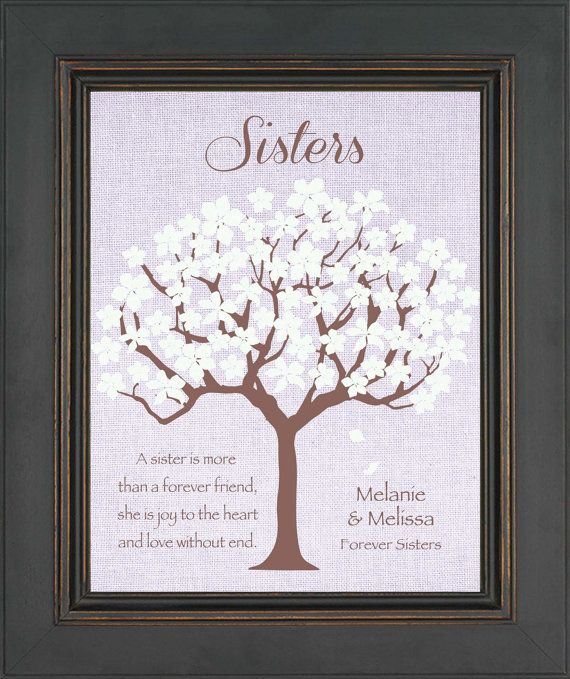 SISTERS Personalized Gift  Birthday Gift for by KreationsbyMarilyn, $15.00