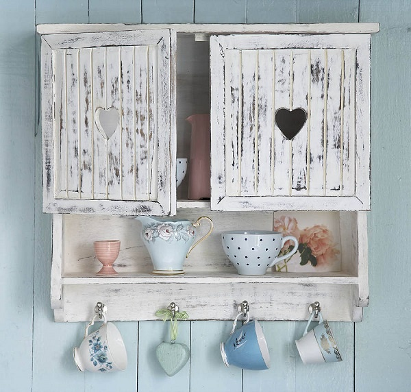 Old fashioned style unit with cut-out heart door