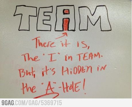 "The ""I"" in Team.: Laughing, Funny Things, Quotes, Wedding Photos, Funny Stuff, Humor, Funny Photos, Team, True Stories"