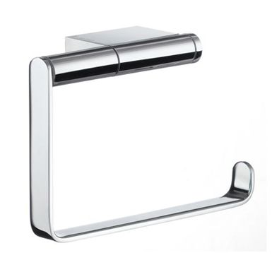 Air - Toilet Roll Holder in Polished Chrome. Concealed fastening. Strict design with the airy elegance. Solid brass chrome plated.