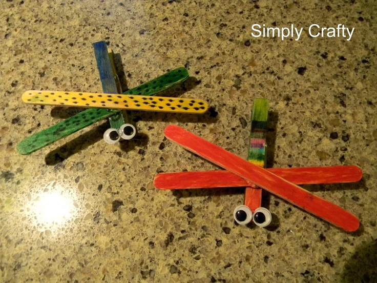 Simply Crafty: Clothespin Dragonflies (Quick Afterschool Craft)