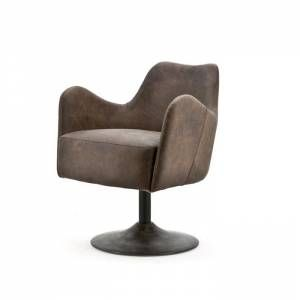 Fauteuil Tom Donkerbruin