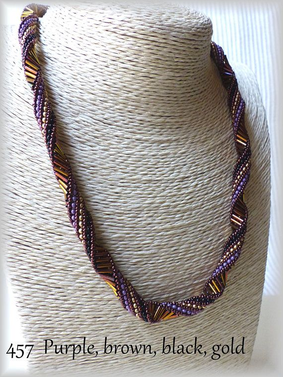 Please check the necklace length below. Width approx. 8mm Made with seed beads & tube beads If you would like to have this design with the other colors or stones, please send me the message. Ill contact you about the detail (estimated delivery date, price etc) as soon as possible. If