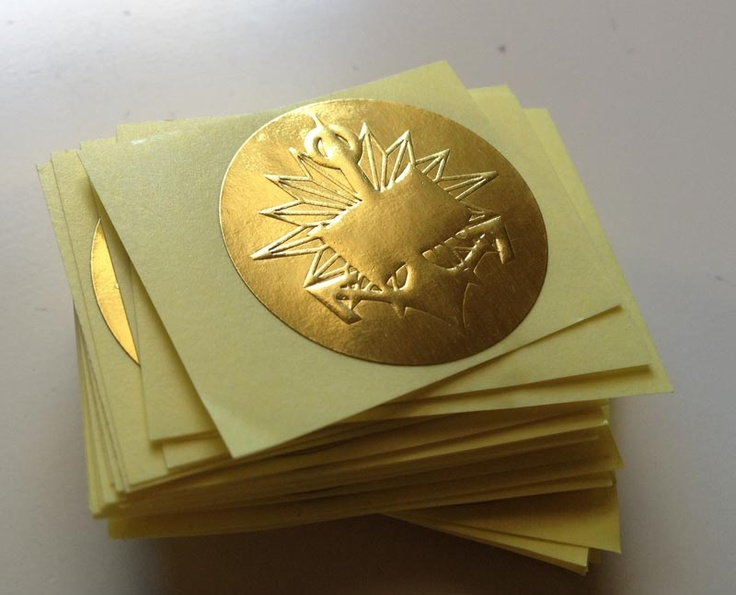 Gold Embossed stickers for Brisbane Marine Pilots
