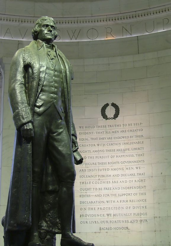 Thomas Jefferson, Musician, Lawyer, Author of the Declaration of Independence, Founding Father, Third President of the USA who Purchased the Louisiana Purchase.