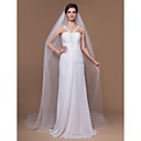 Two-tier Catedral véus de noiva com borda de corte (mais cores) - EUR € 24.74