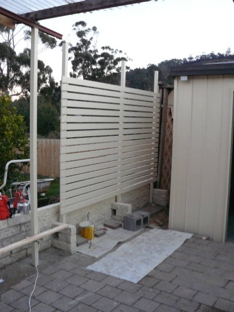 How To Make A Wood Slat Privacy Screen Show To Z Dyi