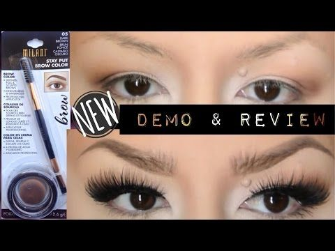 Milani Stay Put Brow Color Review/DEMO - YouTube
