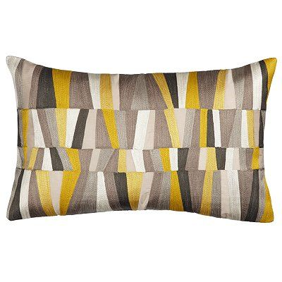 John lewis Geometrics Cushion, Yellow and black £35 for conservatory