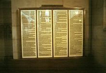 Martin Luther's Ninety-Five Theses nailed to the door of the church in Wittenberg in 1517.  It was the spark that ignited the Protestant Reformation.