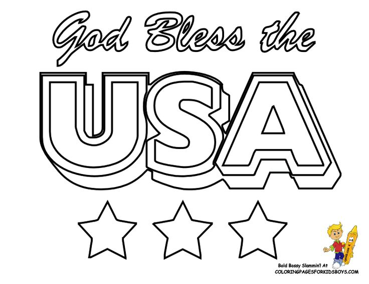Of July Flag Coloring Pages