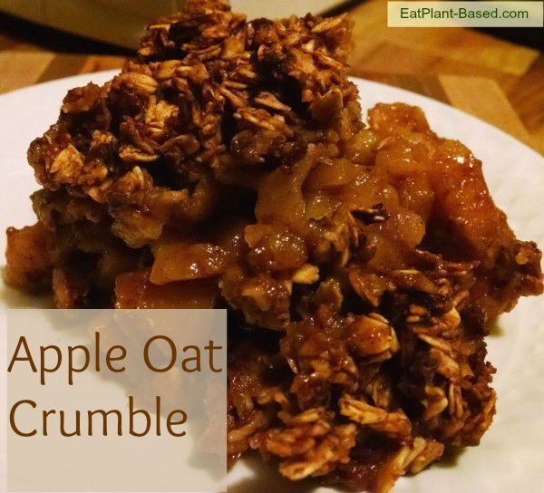 ... apples topped with a crunchy oat topping that's hot and scrumptious