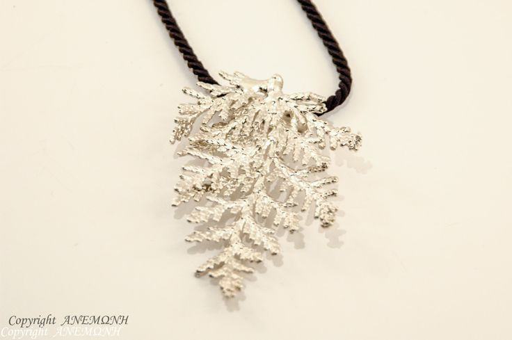 REAL leylandii Necklace, Silver dipped, , leaf Necklace, leaf jewelry, nature jewelry, nature Necklace, twig Necklace, branch Necklace by ANEMONENATURAL on Etsy