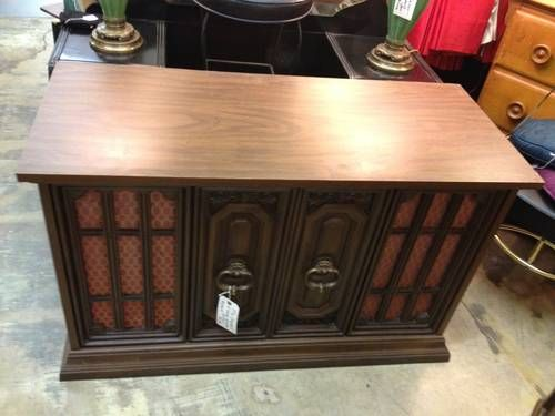 Vintage Reclaimed Sideboard 1970's Capehart 8 Track Record Console - $395 | 1970's