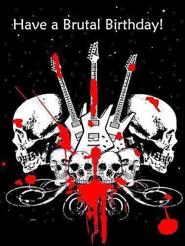 heavy metal metalhead | Tarjeta de cumpleaños estilo heavy metal rock