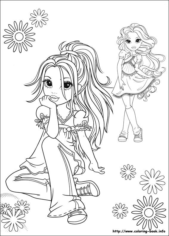 Moxie Girlz coloring picture