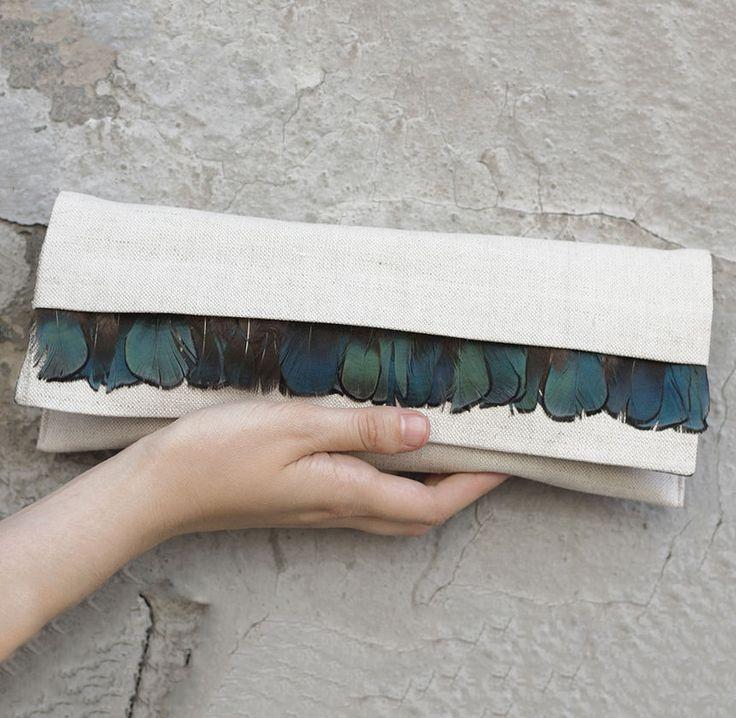 Купить Клатч из натурального льна / Клатч ручной работы. - клатч, клатч ручной работы