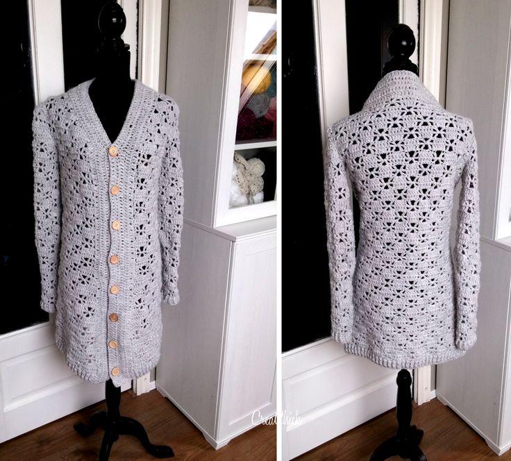 Crochet warm vest. Free pattern. Warm wintervest haken. Gratis patroon.