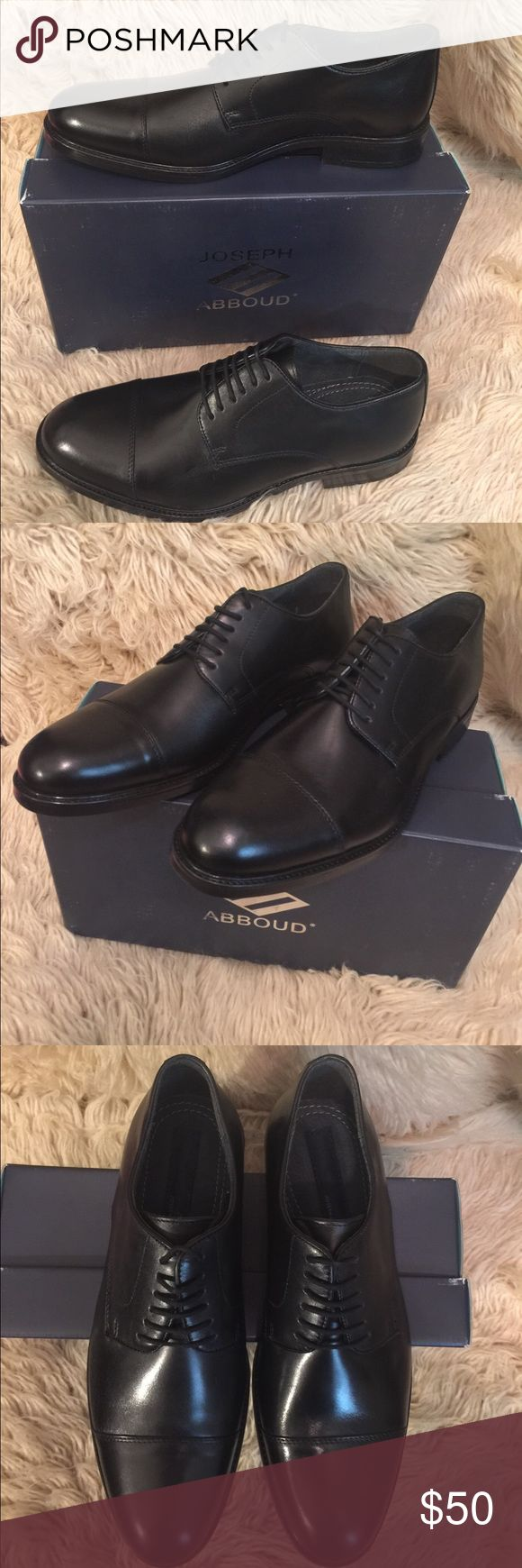 JOSEPH ABBOUD (Rosen) Leather Men's Dress Shoes Black JOSEPH ABBOUD (Rosen) Leather Men's Dress Shoes, size 10.  Leather upper with leather interior lining.  Cushioned footbed.  Rubber outsole w/ welting.  Fits true to size. Joseph Abboud Shoes Oxfords & Derbys