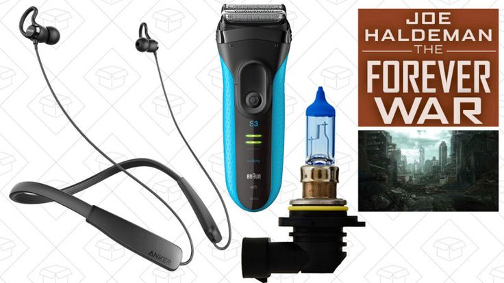 Anker's newest Bluetooth headphones, xenon-replicating headlight bulbs, and The Forever War lead off Monday's best deals.