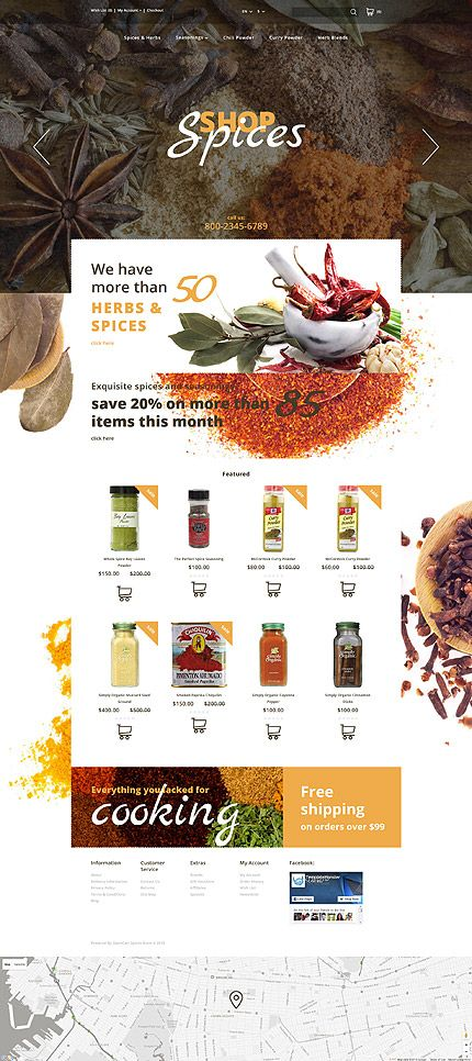 Template 57681 - Spices Spice  Responsive OpenCart Template
