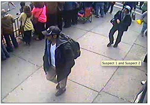 **** BREAKING NEWS****THE BOSTON BOMBERS HAVE BEEN IDENTIFIED:  Suspect #1 Mike Mulugeta (in black hat) and Suspect #2 Sunil Tripathi (in white hat) – The Missing Brown U Student.  Sunil Tripathi went missing in March.  Mike Mulugeta is dead. (From Boston police)