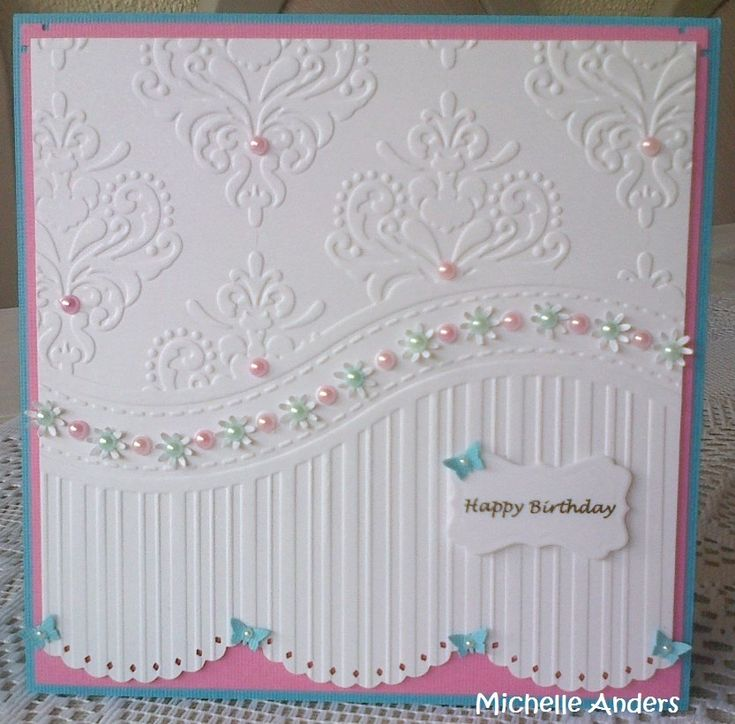 Card Making Ideas With Embossing Folders Part - 20: #Card05 - U0027That Folderu0027 All Occasions By Michelle Anders. Embossed  CardsEmbossing ...