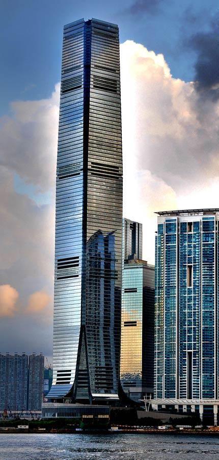 International Commerce Centre Hong Kong, Ritz Carlton Hotel, Hong Kong by Kohn Pedersen Fox Associates and Wong & Ouyang Architects :: 108 floors, height 484m