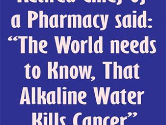 "RETIRED CHIEF OF A PHARMACY SAID: ""THE WORLD NEEDS TO KNOW, THAT ALKALINE WATER KILLS CANCER"" … HERE IS HOW TO PREPARE IT! #fat #diy #drink #smoothie #weightloss #burnfat #diet #naturalremedies th #weightloss #burnfat #diet #naturalremedies #weightloss"